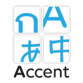 Accent - Learn Thai, English, Chinese & Japanese icon