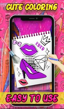 Beauty Coloring Book - Fashion & Accessories screenshot 5