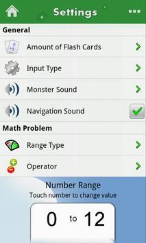 Monster Math Flash Cards Lite screenshot 6