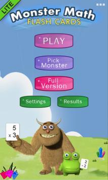 Monster Math Flash Cards Lite poster