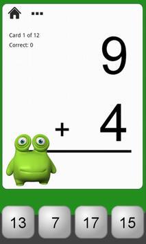 Monster Math Flash Cards Lite screenshot 1