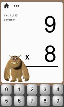 Monster Math Flash Cards Lite screenshot 2