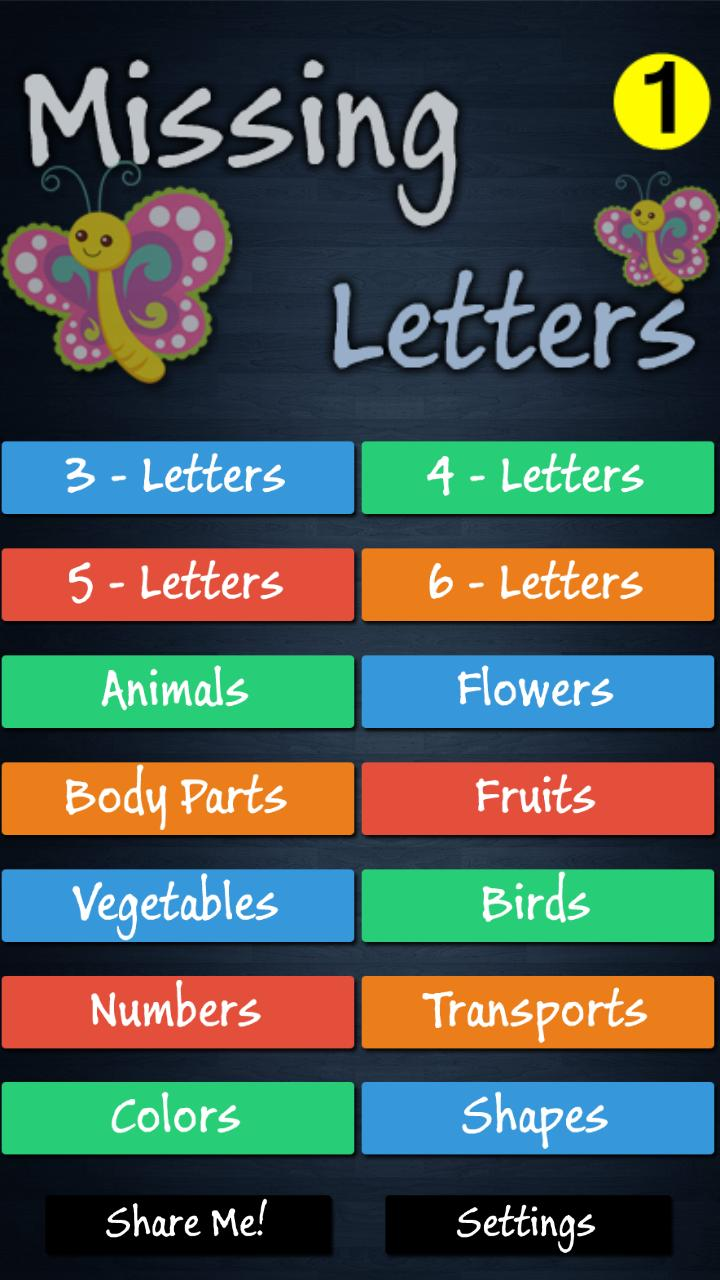 Missing Letters for Kids for Android - APK Download
