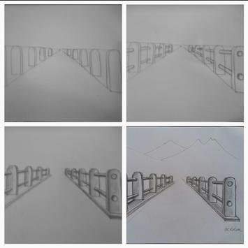 Easy steps to draw bridges with a pencil screenshot 4