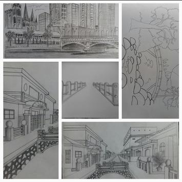 Easy steps to draw bridges with a pencil screenshot 9