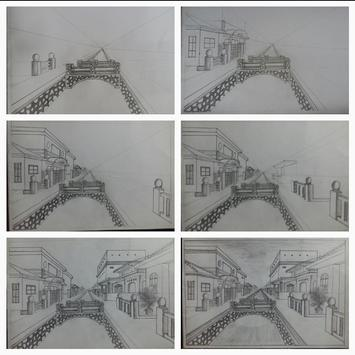 Easy steps to draw bridges with a pencil poster