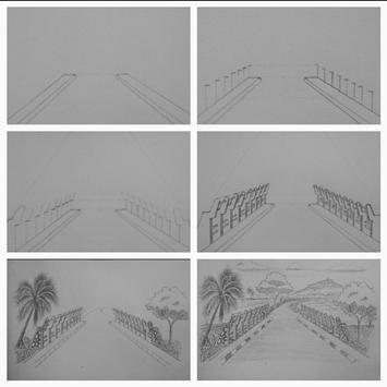 Easy steps to draw bridges with a pencil screenshot 3