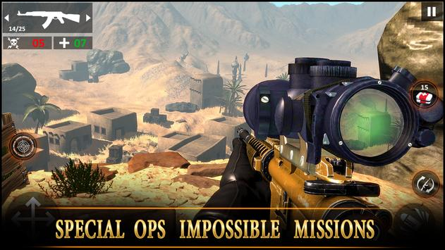 Special Ops Impossible Desert Sniper Missions 2019 screenshot 2