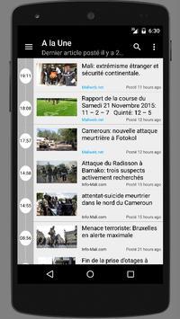 Mali : Actualité au Mali poster