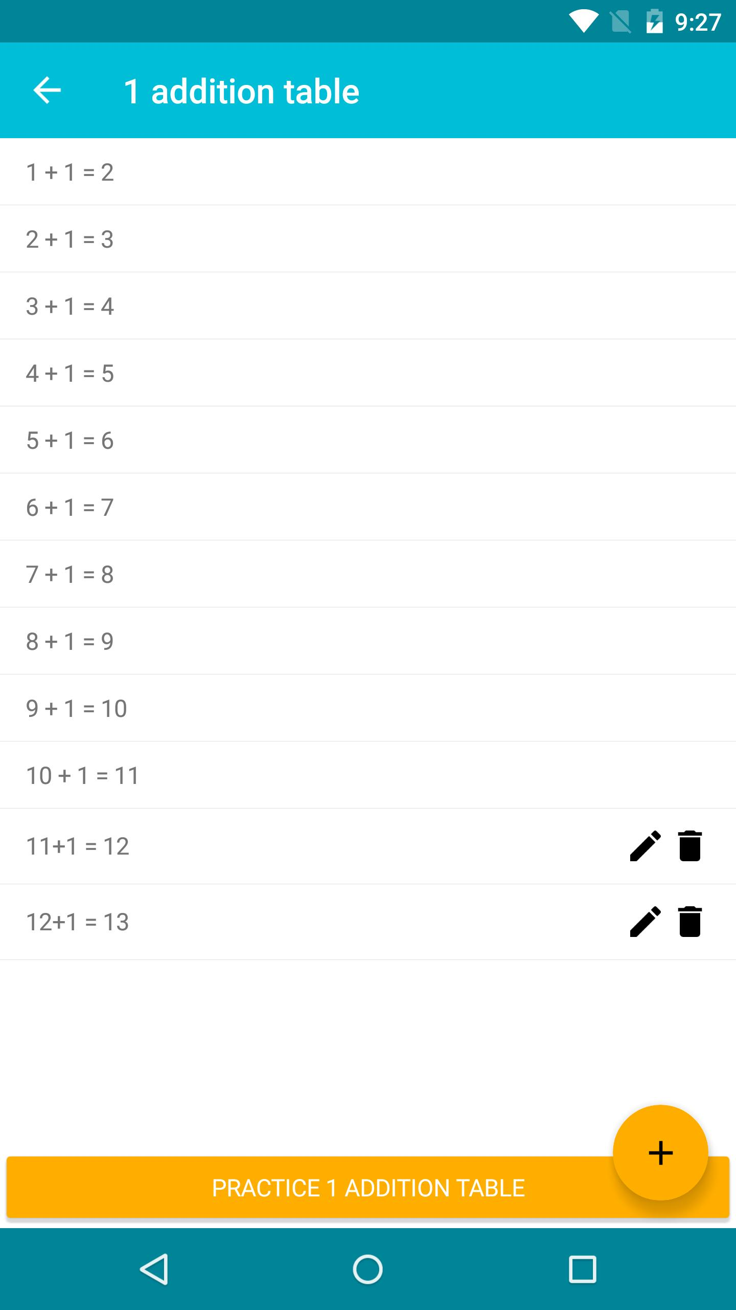 Addition Table for Android - APK Download