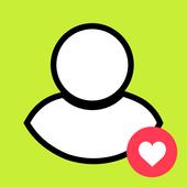 Get friends on Snapchat, add friends on Snapchat icône