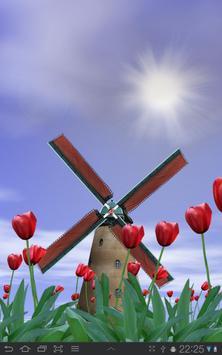 Tulip Windmill Free poster