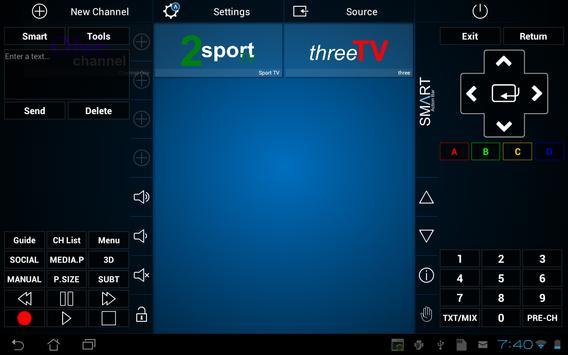 Smart TV Remote تصوير الشاشة 8