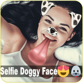 Doggy Face Stickers Filters Snapy Cam Photo Editor icon