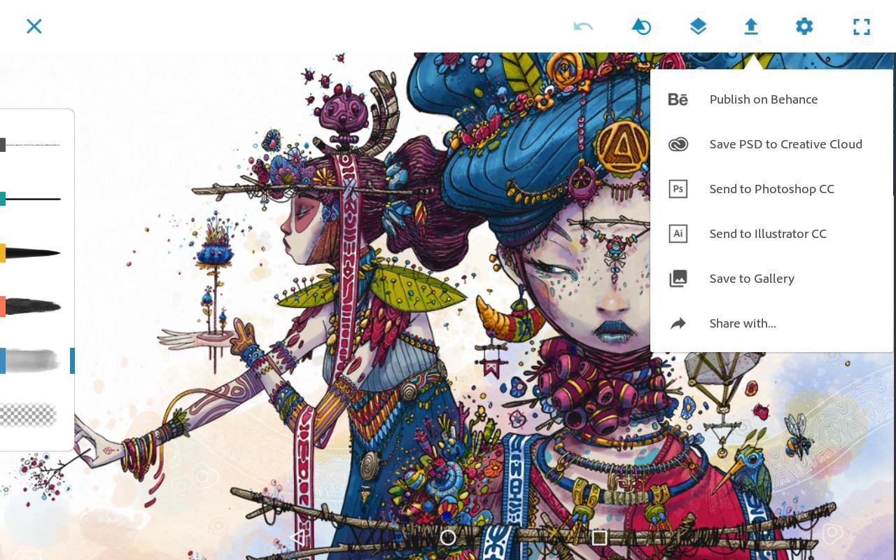 Apptoko game Adobe Photoshop Sketch