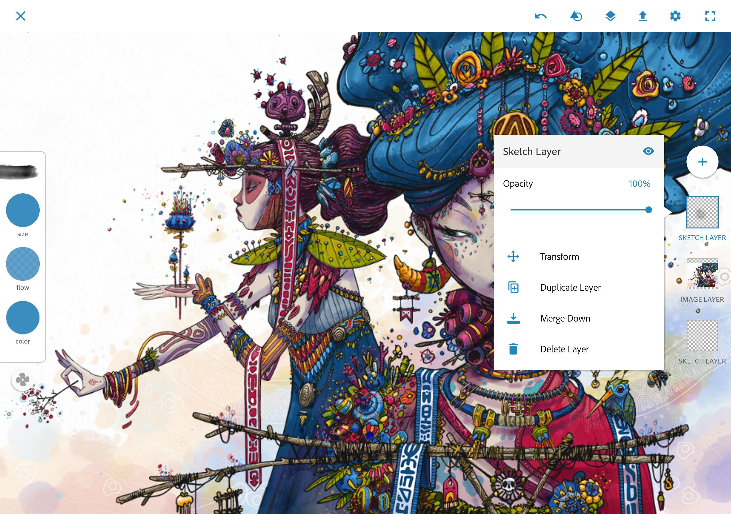 Aplikasi terpopuler di android Adobe Photoshop Sketch