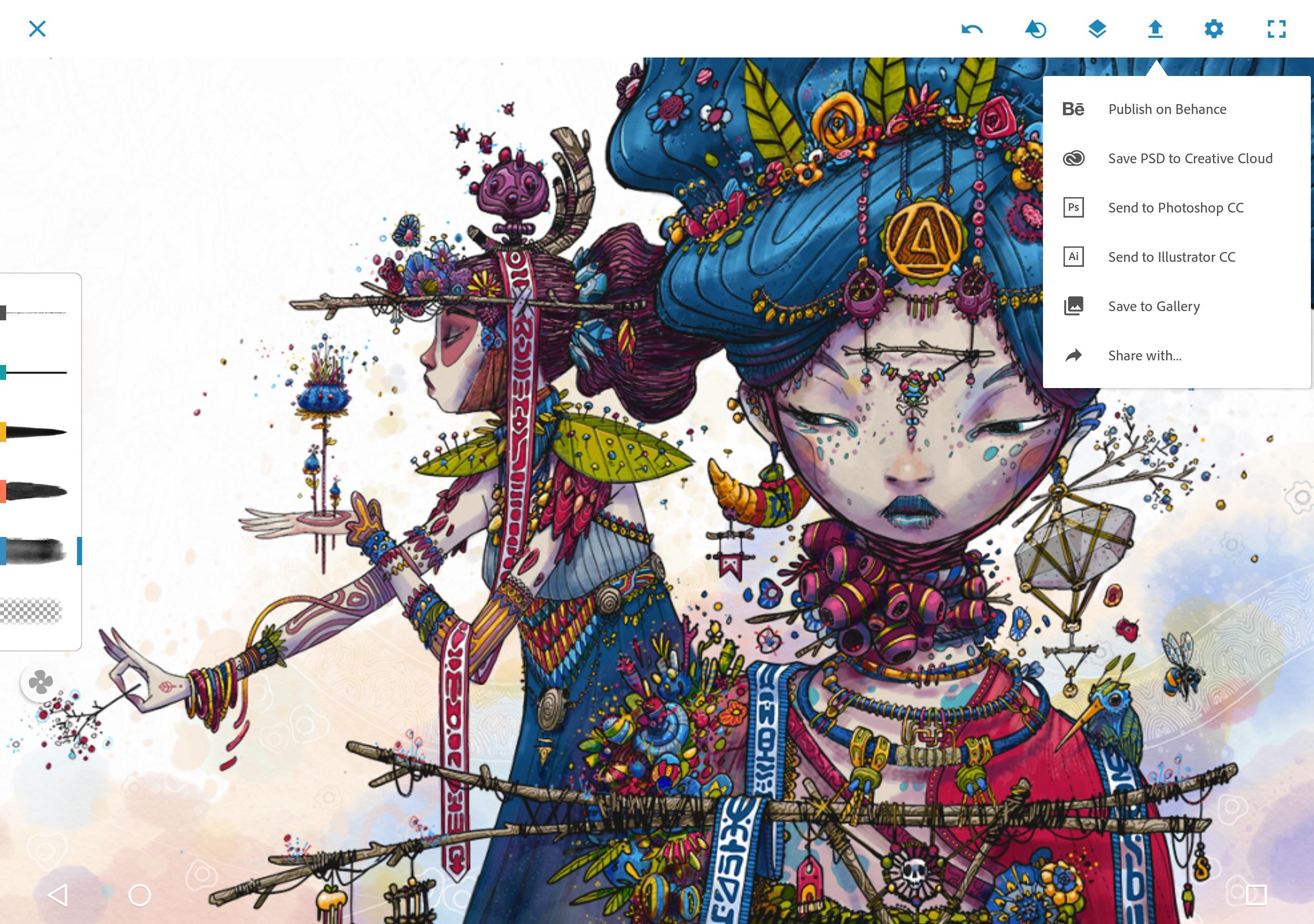 Aplikasi baru Adobe Photoshop Sketch