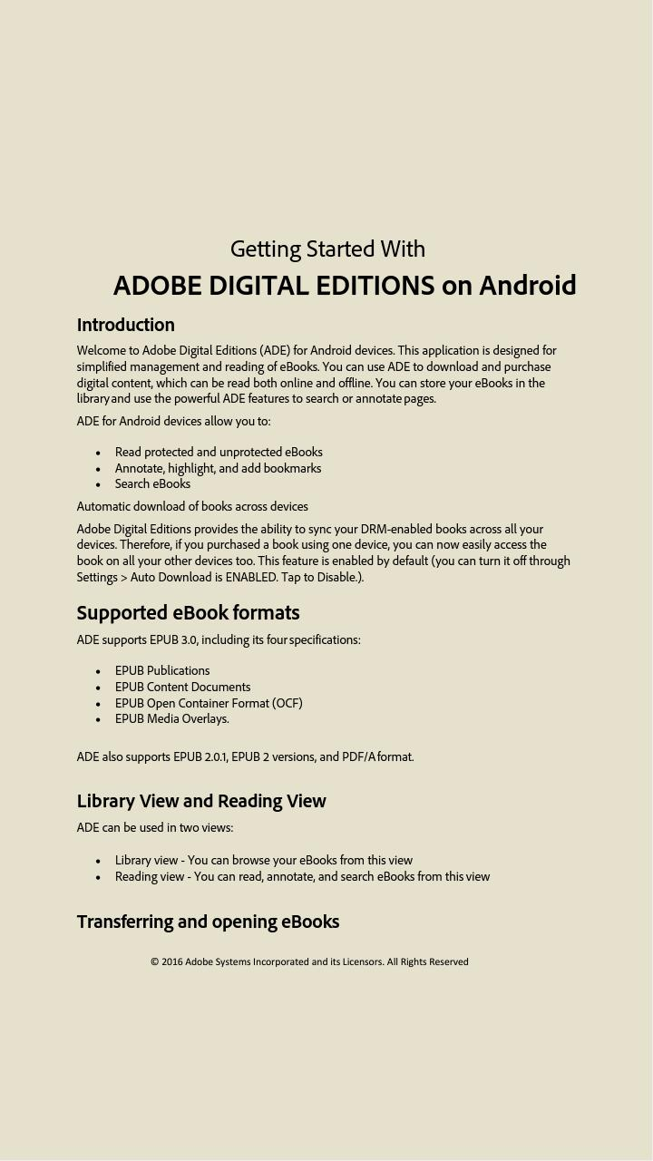 Adobe Digital Editions for Android - APK Download