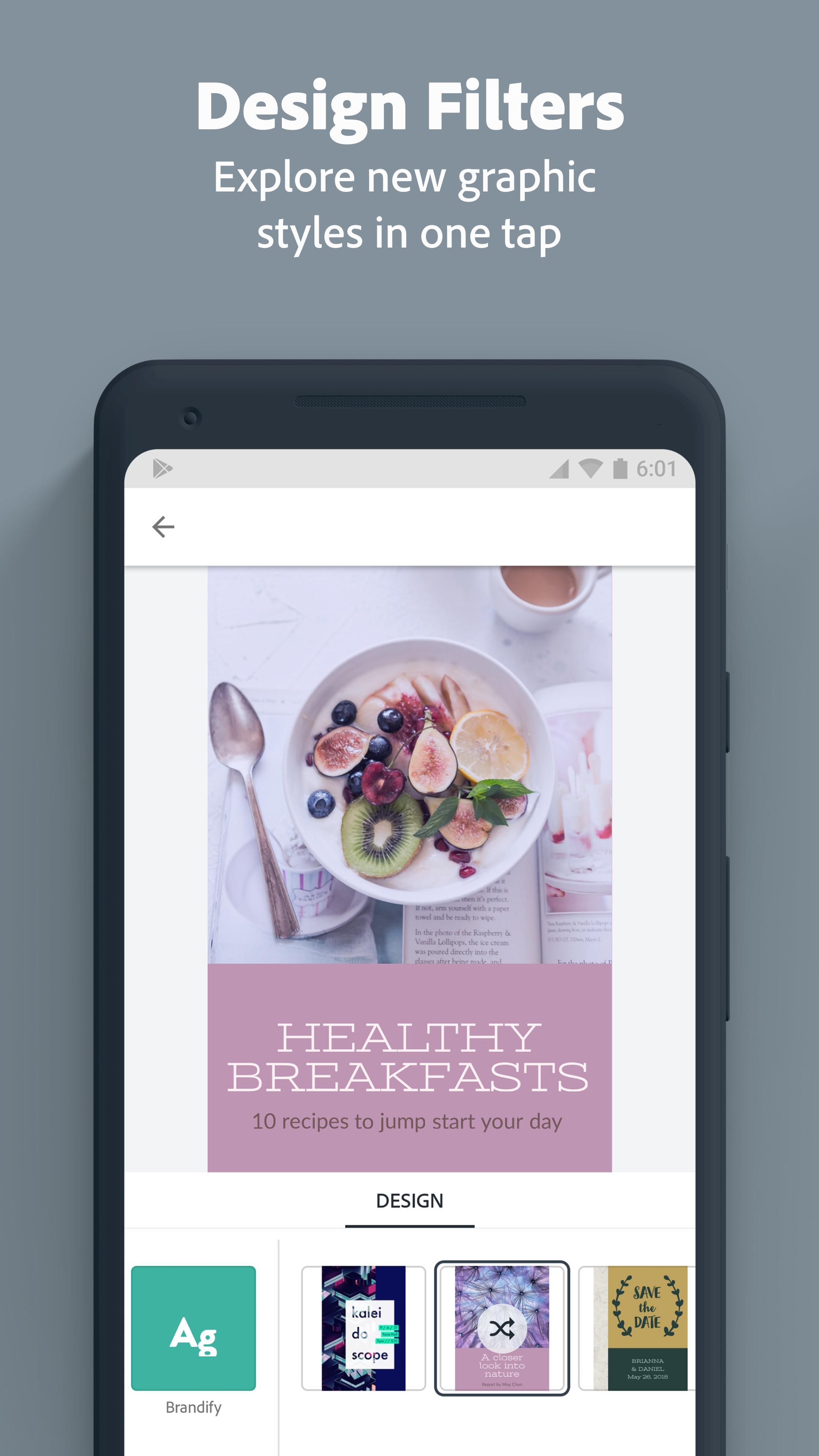 Download aplikasi android gratis terbaik Adobe Spark Post: Graphic design made easy