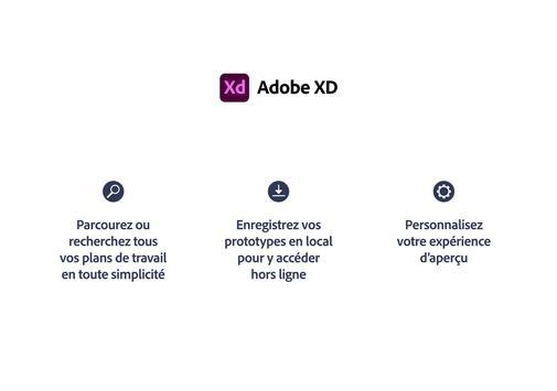 Adobe XD capture d'écran 11