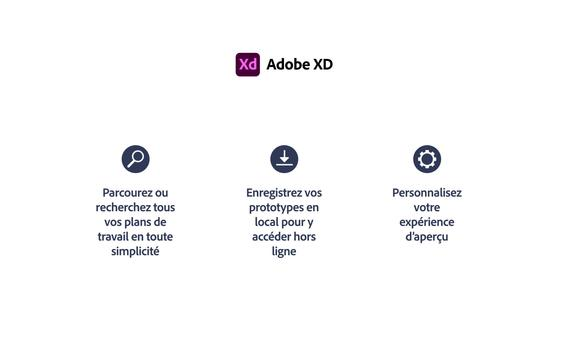 Adobe XD capture d'écran 17