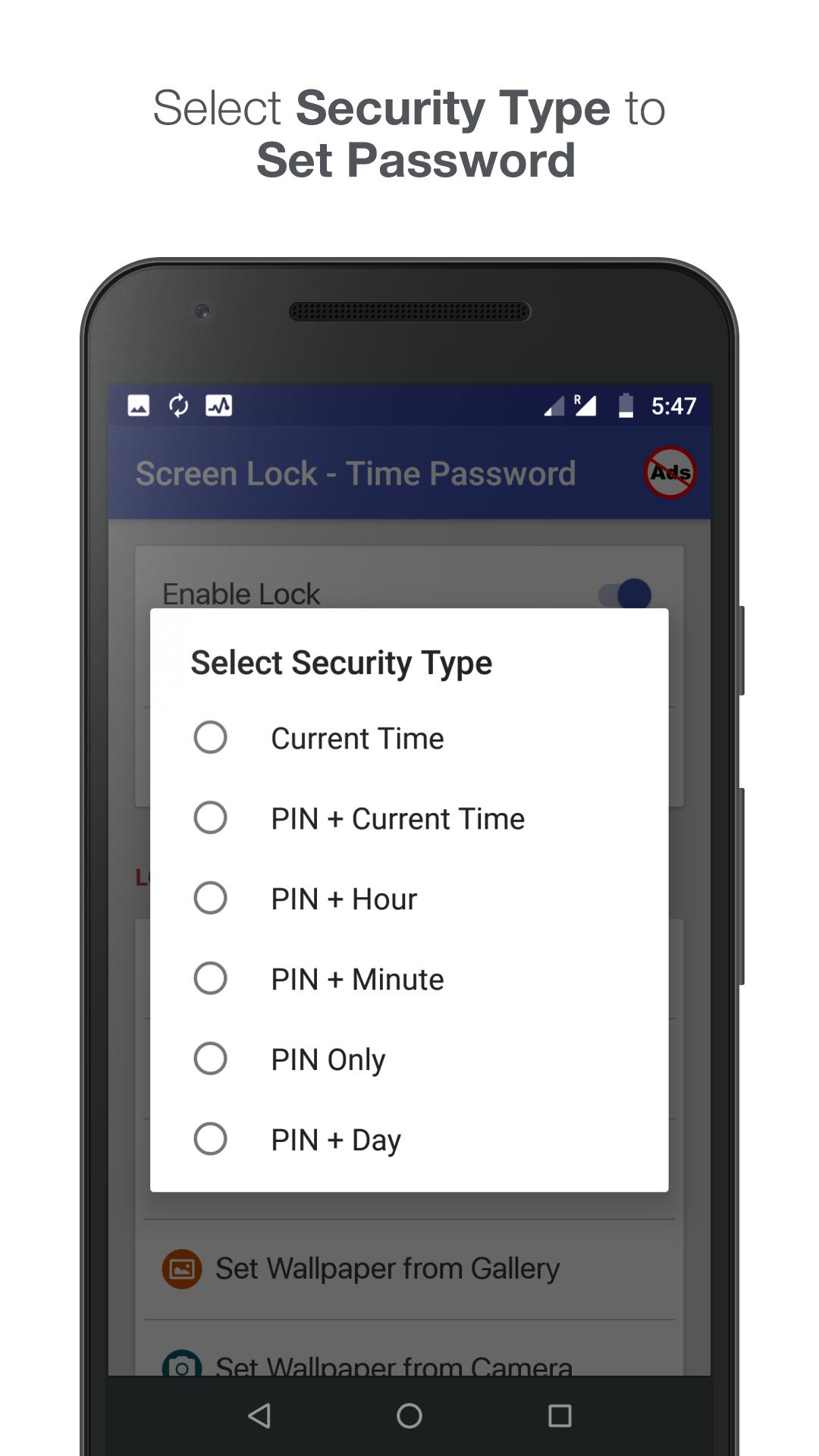 Screen Lock - Time Password cho Android - Tải về APK