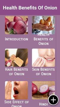 Health Benefits Of Onion poster