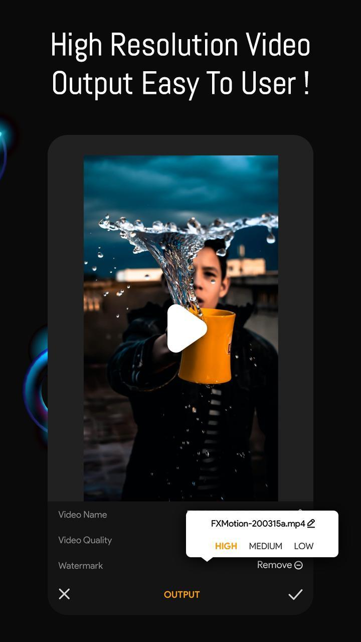 FX Motion Pro - Slow Fast Reverse Video Editor for Android ...
