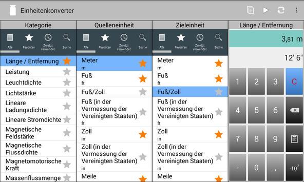Einheitenkonverter Screenshot 10