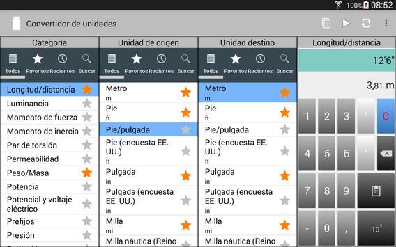 Convertidor de unidades captura de pantalla 11