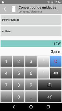 Convertidor de unidades captura de pantalla 3