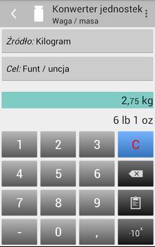 Konwerter jednostek screenshot 5