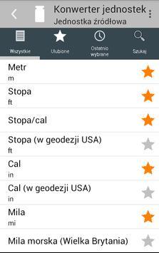 Konwerter jednostek screenshot 6