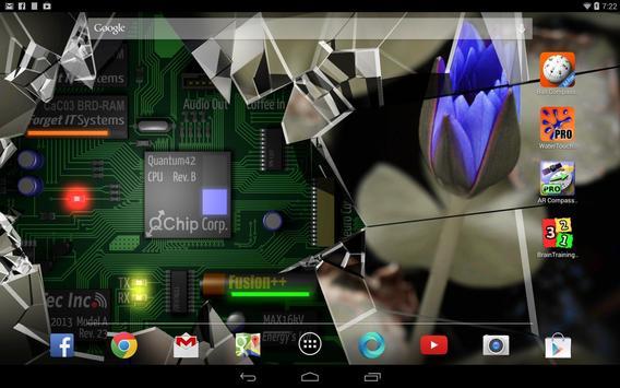 Cracked Screen Gyro 3D Parallax Wallpaper HD captura de pantalla 5