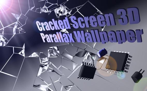 Cracked Screen Gyro 3D Parallax Wallpaper HD captura de pantalla 7