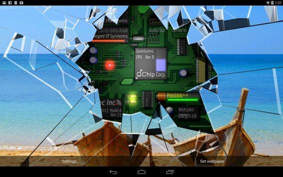 Cracked Screen Gyro 3D Parallax Wallpaper HD captura de pantalla 8