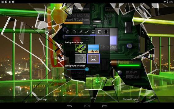 Cracked Screen Gyro 3D Parallax Wallpaper HD captura de pantalla 9