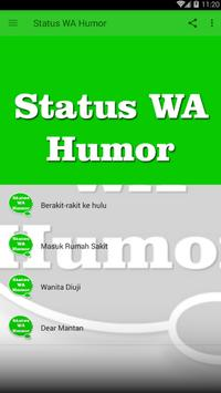Status WA Humor poster