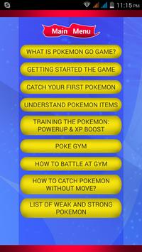 Guide for pokemon go india poster