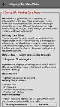 Integumentary Nursing Care Plans capture d'écran 1