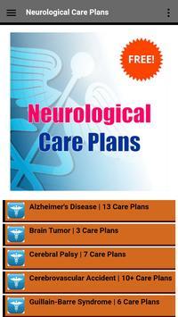 Neurological Nursing Care Plans poster