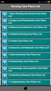 Nursing Care Plans List screenshot 1
