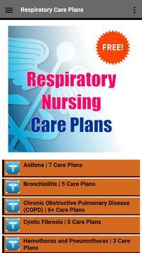 Respiratory Nursing Care Plans poster