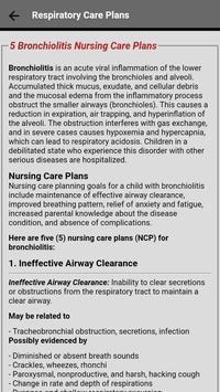 Respiratory Nursing Care Plans screenshot 1