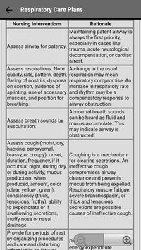Respiratory Nursing Care Plans screenshot 2