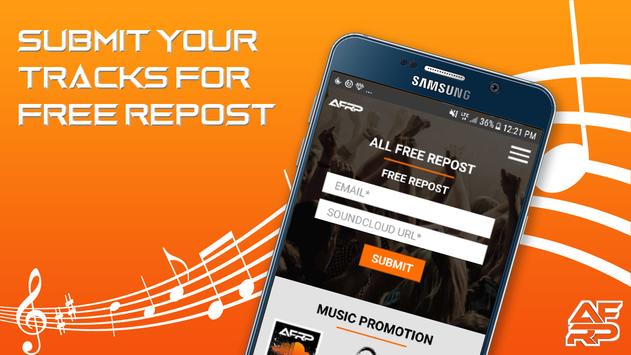 All Free Repost - Music Promotion screenshot 1
