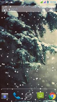 Lovely Snowfall Wallpaper Free screenshot 1
