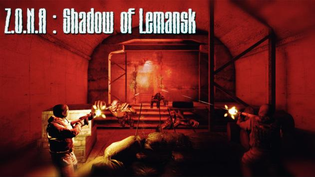 Z.O.N.A Shadow of Lemansk Post-apocalyptic shooter poster