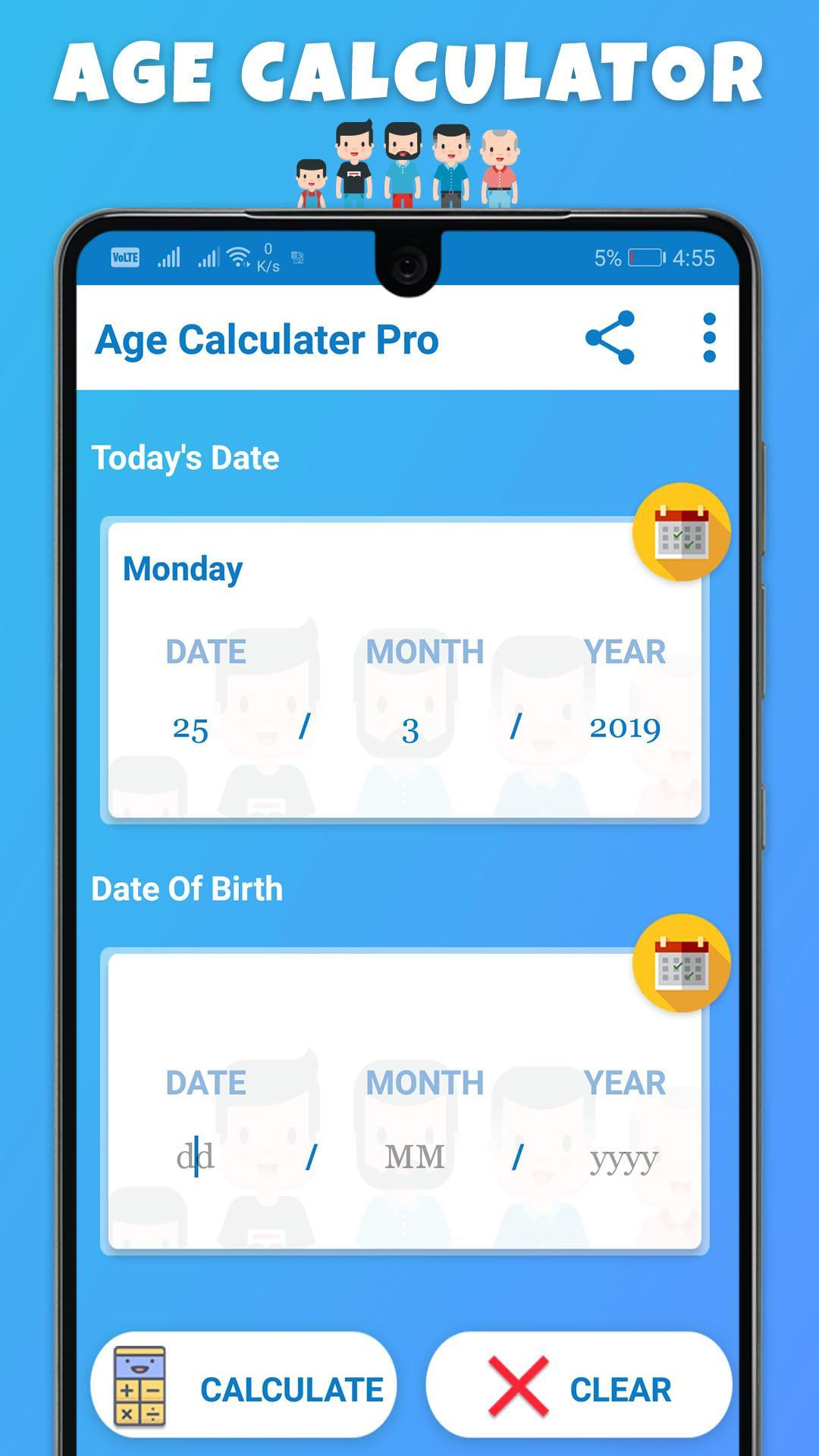 Age & Birthday Calculator - Chronological age for Android - APK Download