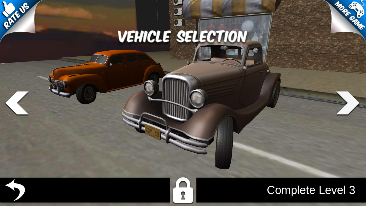 Classic car parking extreme parking lot;top driver for android.